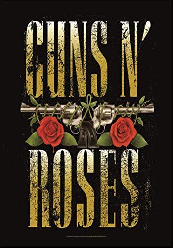 Heart Rock - Bandera Original de Tela con diseño Big Guns de Guns N'