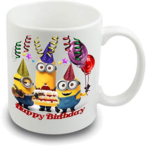 N\A Siddhi Vinayak Feliz cumpleaños Día Minions Feliz cumpleaños Taza de café, Esposa, Novia, Novio, Madre, Hermana, Padre, Hermano