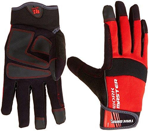 True Grip 9824–23 XL travail Master Gants avec écran tactile doigts – Rouge/Noir