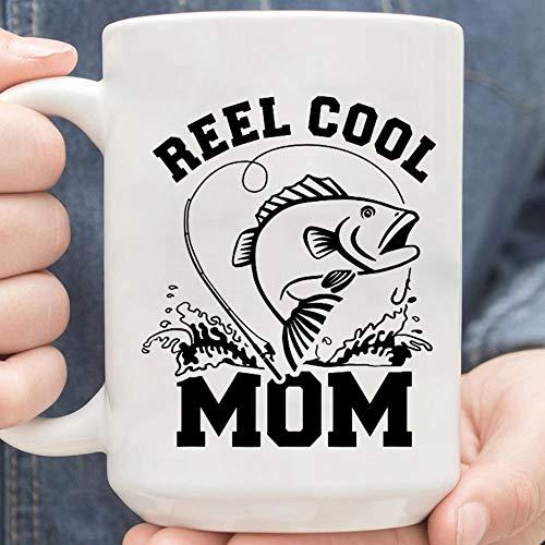 Reel Cool Mom Fishing Gift, Fishing Mom, Bass Fishing, Mother-Day Gift, Funny & Sarcastic Gift For Mom Wife-nant20102028 Mug