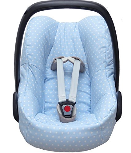 Blausberg Baby Housse pour la Maxi Cosi Pebble Coque bébé dans bleu clair avec étoiles