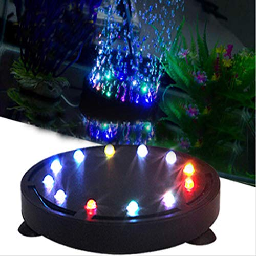 Simplylin 12 LED Submersible Bubble Light Air Stone for Aquarium Fish Tank Pump Curtain UK,Underwater Bulb lamp Connected to Oxygen Pump