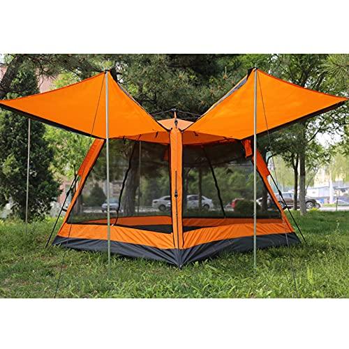 Tienda de mochilero Impermeable,Fácil Montaje, Compacta, Ligera Ideal para Acampada, Senderismo, Excursionismo, Camping (3-4 Personas),Orange