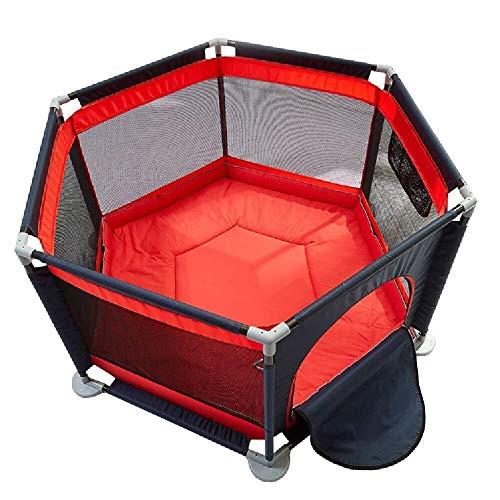 Parque de Juegos para Bebés,Corralito Infantil Corralito Portátil De 6 Paneles Bebé Con Toallita De Algodón - Los Niños Pequeños Corral For Uso En Interiores Al Aire Libre, Los Niños Del Centro De Act
