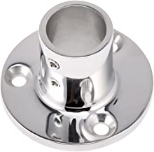 Boat Hand Rail/Stanchion Round Base Hardware for 1''/25mm Tube 90 Degree Marine 316 Stainless Steel