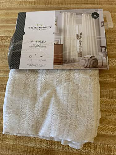 Threshold, Leno Weave Sheer Curtain Panel, Ivory, 54 x 84