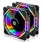 conisy Ventola per PC da 120 mm, Ultra silenziosa RGB LED Ventilatore per Computer Desktop...