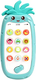 Docooler Mobile Phone Toy with Light Music & Sounds Silicone Teether Baby Multifunctional Smartphone Toy for Babies Infant...