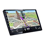 UNITOPSCI Double Din Android Car Stereo 10.1 Inch Touch Screen Car Radio with Bluetooth Support WiFi GPS Navigation FM Radio Mirror Link Dual USB Input SWC, Car Mulitmedia Player + Backup Camera