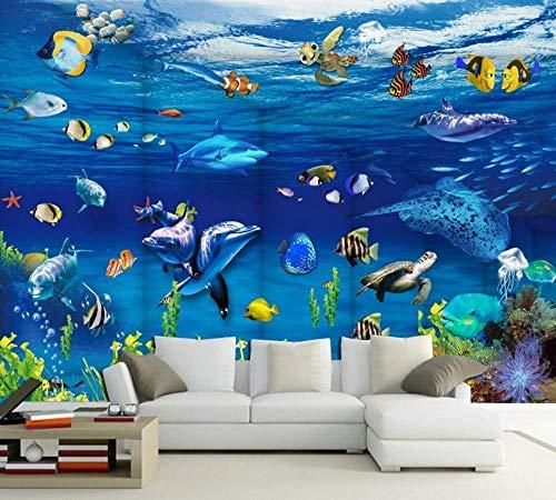 Fototapete 3D Wall Paper Fantasy Ocean World Foto Wandbild Aquarium Hintergrund Wallpaper-150 * 105 cm