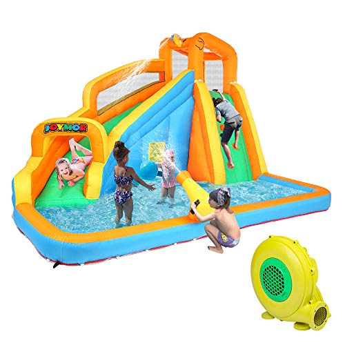 Joymor Inflatable Water Slide Bounce House W Climbing Wall Water Gun Splash Pool Water Slide Castle Outdoor Playhouse For Little Kids Included Blower Buy Online In Dominica At Dominica Desertcart Com Productid 205037376