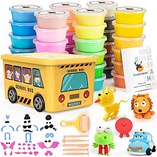 36 Colors Air Dry Clay Set, Modeling Clay for Kids, Molding Magic Clay with Sculpting Tools, Accessories & Container, Ultra Light Clay Art DIY Craft Gift for Boys Girls 3+ Year Old