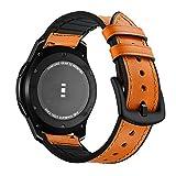 Aottom Compatible con Correa Galaxy Watch 46mm, Cuero Correas Samsung Gear S3 Frontier Banda 22mm Smartwatch Pulseras Repuesto...