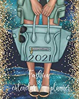 2021 Fashion Calendar Planner: Teal Blue And Gold Agate, Women's Fashionable Purse Calendar Organizer With Daily, Weekly And Monthly Pages