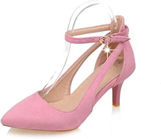 BalaMasa Womens ASL06470 Imitated Suede Heels