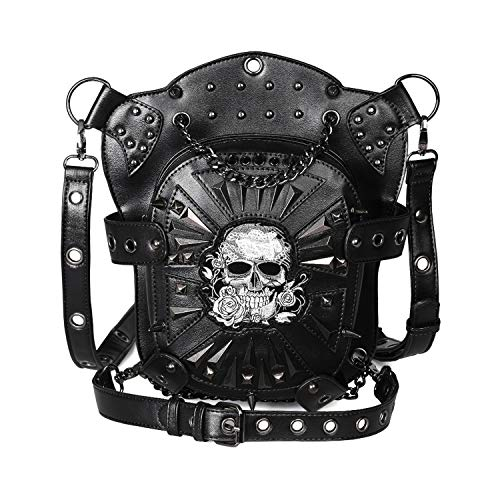 Women Retro Skull Cross Body Shoulder Bag Fashion Envelope Handbag Chain Shoulder Bag Backpack