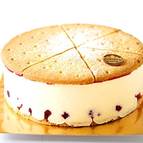 洋菓子店カサミンゴー 最高級洋菓子 ドイツの銘菓 ケーゼザーネトルテ レアチーズケーキ (誕生日プレートセット, 20cm)