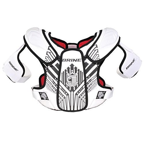 Brine Uprising Lacrosse Shoulder Pad (Small, White)