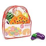 CAREMiLLE 24 Piezas Frutas Vegetales Alimentos plástico Juego de Corte Chico Juego de simulación Juguete Educativo, Verduras y Frutas