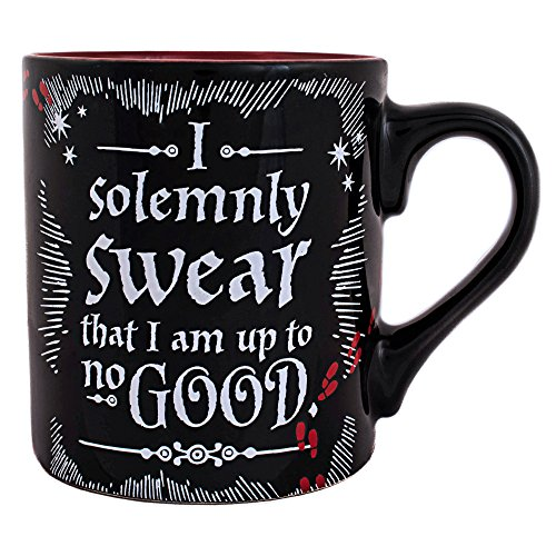 Silver Buffalo Harry Potter Up to No Good, 14-Ounces Ceramic Mug, 1 Count (Pack of 1), Multicolor