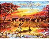Paisaje DIY pintura al óleo digital prensa patio paisaje paisaje lienzo pintura al óleo sala de estar arte de la pared 40x50cm sin marco