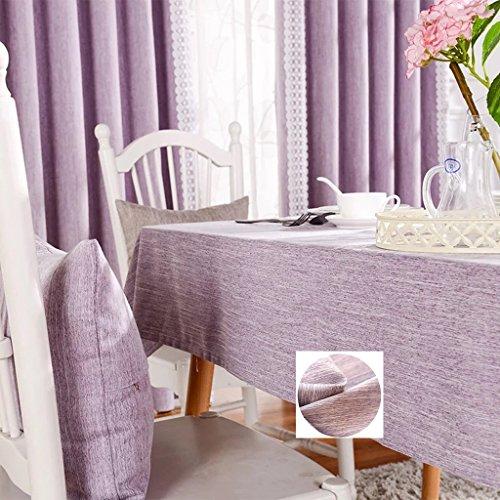 Nappes Nappes rectangulaires - Style littéraire en lin de coton solide/Table basse/Table à manger/Cuisine/Nappe de table à café 90 * 130CM (Couleur : B, taille : Rectangle-130 * 200cm)
