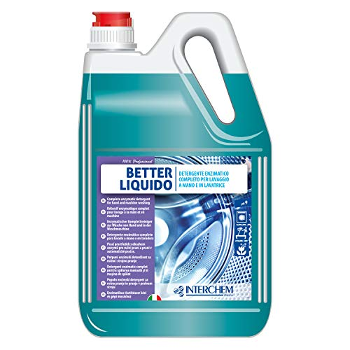 Interchem BETLL5X4 Better - Detergente líquido para lavado a mano y a máquina, fórmula concentrada, 4 bidones de 5 kg