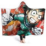 354 Throw Blanket con Cappuccio My_Hero_Academia_Soundtrack 153Cmx127Cm Dormitorio Anime Divano Letto Regalo Divano di Natale Coperta Calda da Viaggio Tutte Le Stagioni Coperta Decora