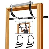 FeiTanHM Pull up bar for Doorway,Heavy Duty Door Pull Up Bar Upper Body Equipment Workout Bar Chin...