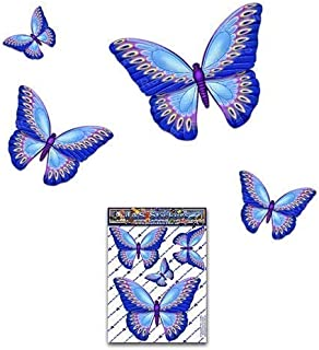 JAS Stickers Blue BUTTERFLY ANIMAL Car Stickers - Small Vinyl Decal Pack For Laptop Bicycle Caravans Trucks & Boats - ST00...