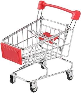 NUOBESTY 3 stycken mini – kundvagn leksak handvagn shoppingvagn mobiltelefonhållare förvaringskorg nyhet förvaringsleksake...