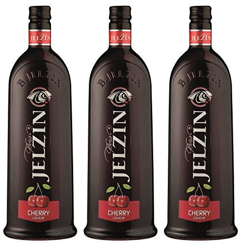 Jelzin Vodka Cherry Likör (3 x 0.7 l)