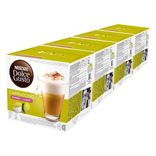 Nescafé Dolce Gusto Cappuccino light, Paquete de 4, 4 x 16 Cápsulas (32 Tazas)