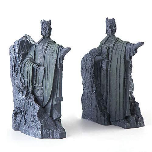 MEELLION Art Decorations Hobbit Terzo I cancelli della Statua di Gondor Argonath Bollending Bookend 14 cm Resina Detentori di Libri a Freddo Statua in Bronzo Love of a Lifetime