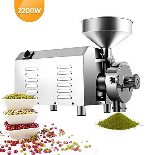 Kücheks Maíz especiado s Arroz eléctrico Molino de Hierbas Semillas de maíz Máquina de Granos Harina Comercial y Molinillo para Pimiento de azúcar Ormosia Café de Soja 2200W 30-50KG / H