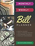 Monthly & Weekly Bill Planner / One-Year Organizer Log Book / Extra Large 8.5 x 11 in - 146 Pages: Personalized Monthly Budget & Weekly Expense ... Budget Journal / Classic (Deluxe-Glossy)