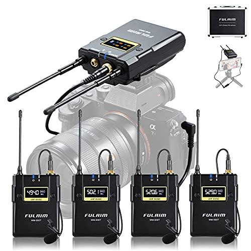 FULAIM WM500 UHF Wireless Lavalier Microphone...