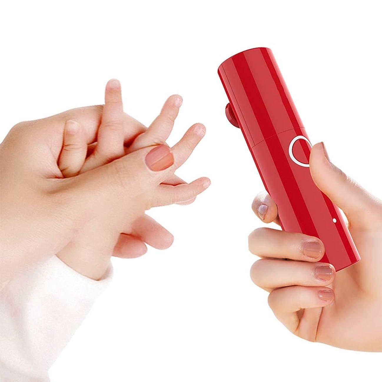 ロデオマスク思いやりベビーネイルバリカン、電動ネイルポリッシャー、新生児および子供用の充電式新生児ネイルトリマー