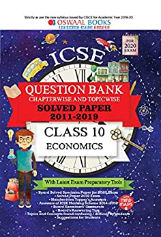 Oswaal ICSE Question Bank Class 10 Economics Chapterwise & Topicwise (For March 2020 Exam) Old Book by [Oswaal Editorial Board]