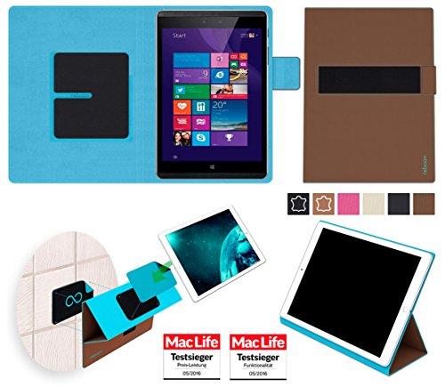 Hülle für Hewlett Packard Pro Tablet 608 Tasche Cover Hülle Bumper   in Braun   Testsieger