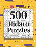 500 Hidato Puzzles: Easy Puzzles for All Ages 12 Puzzles Per Page
