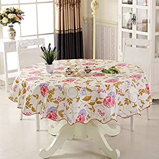Oilcloth Fabric Tablecloth - Waterproof & Oilproof Wipe Clean PVC Vinyl Tablecloth Dining Kitchen Table Cover Protector Oilcloth Fabric Covering