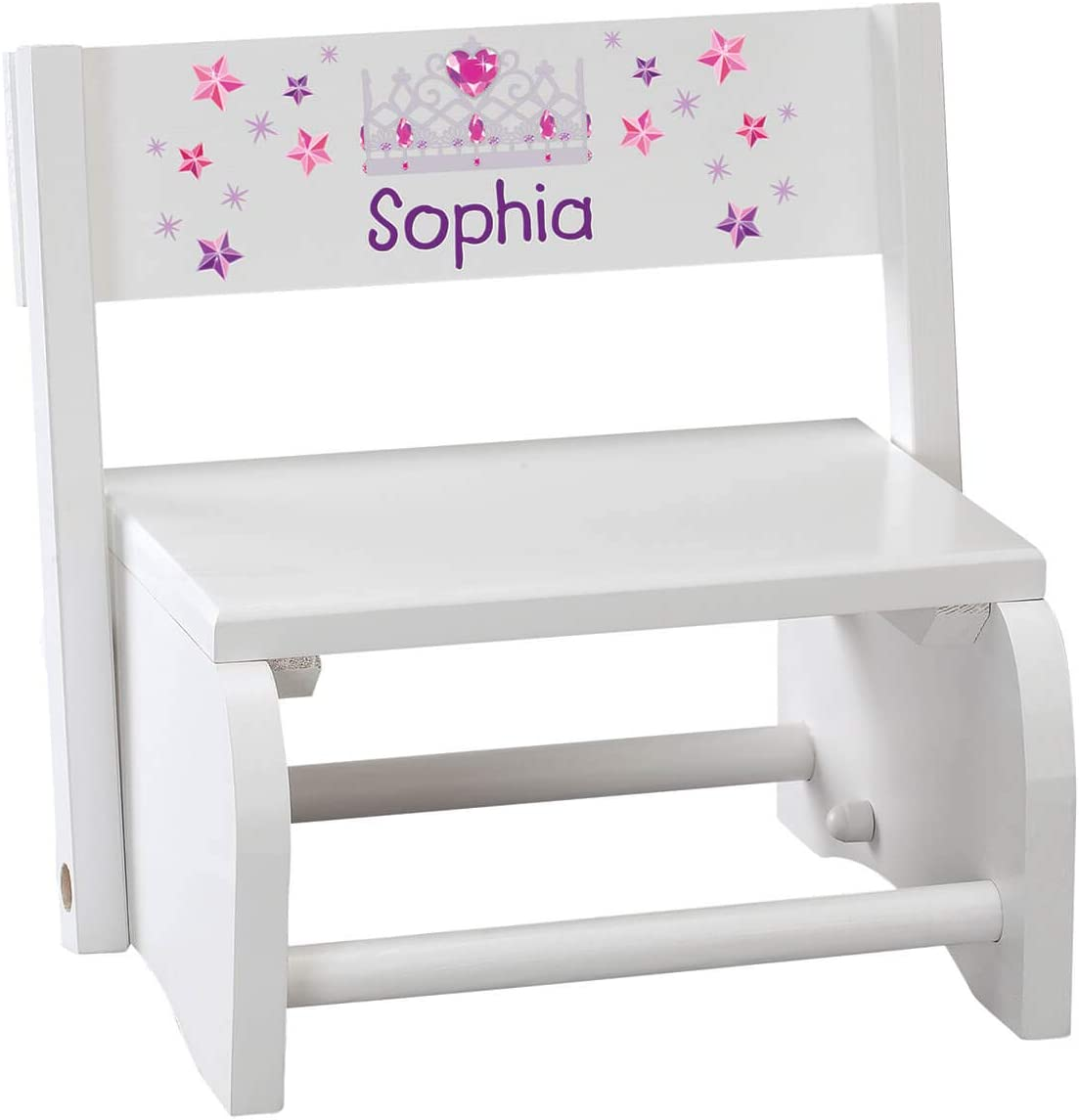 Fox Valley Traders Free sale shipping Personalized Children's Step Princess S White