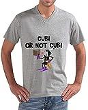 latostadora - Camiseta Cubi o No Cubi para Hombre Gris vigoré S