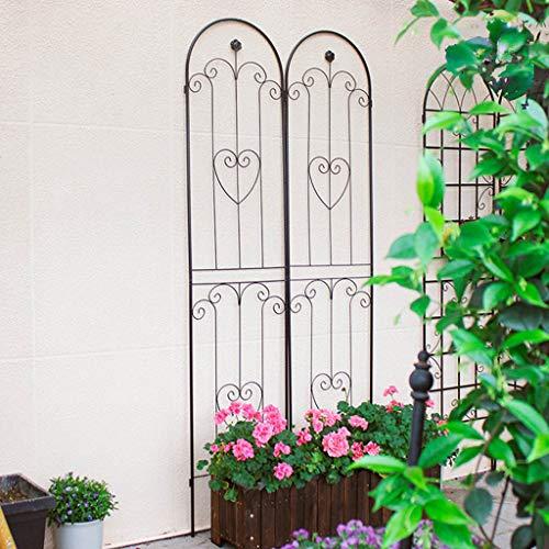 HXZ Rosenblumen-Wandnetz, Blumenregal, Eisenblumentopfständer, Klettergerüst, Pflanzenstützrahmen, Klettergerüst aus schwarzer Clematis-Rose, Garten im Innenhof