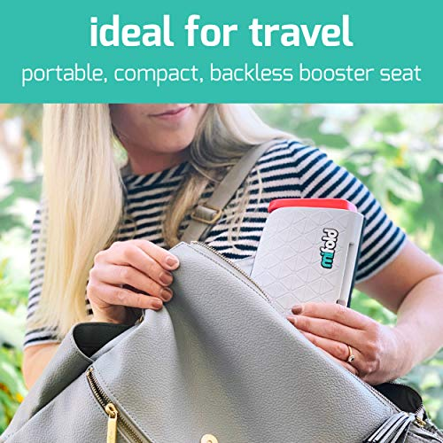 mifold Original grab-and-go Car Booster Seat, Slate Gray – Compact and Portable Booster for Travel, Carpooling and More – Foldable Child Booster Seat Fits into Glove Box and Backpack Alabama