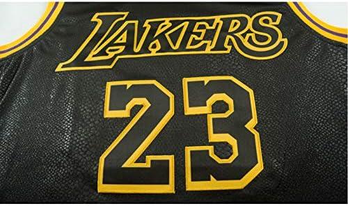 NNNK # 23 LBG King James Laker 2020 Finals Championship Mamba Snake Pattern Embroidery Basketball Jersey,Unisex Commemorative Sleeveless Quick-Drying Sports Vest Shirt.