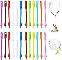 48 st vinglas markörer silikon, OSUTER Drink Markers kreativa vinberlocker hållbara för familj bar fest