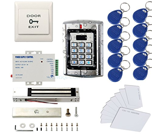 Metal Weatherproof Access Control System 600LBS Force Electric Magnetic Lock +110VPower Supply+Exit...