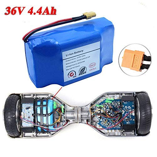 Battery for Hoverboard Scooter Safe Replacement batteries Part Power Self Balancing LED Electric Skateboard Hover Board Electric Hub Fix Your not Working Batteries Easy DIY Repair